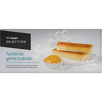 El Corte Inglés Turrón de yema tostada sin azúcares añadidos Sin Gluten Calidad Suprema selection Tableta 200 g