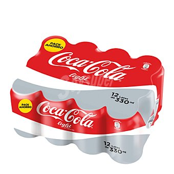 Coca-Cola Light Refresco de Cola Light 12 latas de 33 cl