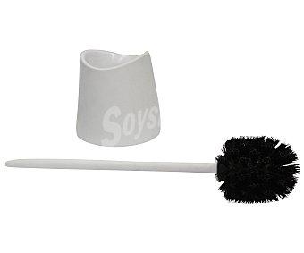 Tatay Escobillero y escobilla de plástico para Wc de color blanco 1 unidad