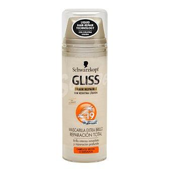 Gliss Schwarzkopf Mascarilla capilar extra brillo para cabello seco/dañado 200 ml
