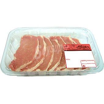 Lomo fresco de cerdo en filetes peso aproximado Bandeja 350 g
