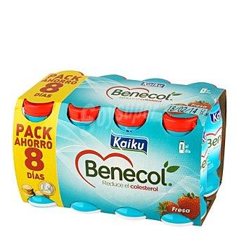 Kaiku Benecol Yogur de fresa Pack 8x65 g