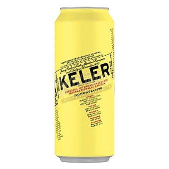 Keler Cerveza rubia nacional  lata 50 cl