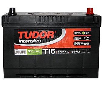TUDOR Batería de arranque T15 12 Voltios 100Ah , potencia de arranque: 720 Amperios 1 unidad