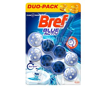 Bref WC Desinfectante WC poder activo Blue Activ colgador Blister 2 u
