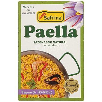 SAFRINA Sazonador natural con azafrán para paella Caja 9 g