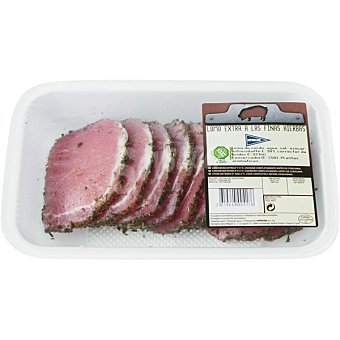 Hipercor Lomo a las finas hierbas de cerdo extra peso aproximado Bandeja 500 g