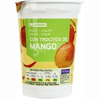 Eroski Yogur con mango Tarro 200 g