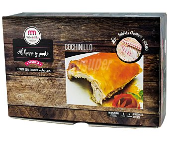 Tabladillo Cuarto de cochinillo fresco, sin gluten y listo para hornear 1150 gramos aproximados