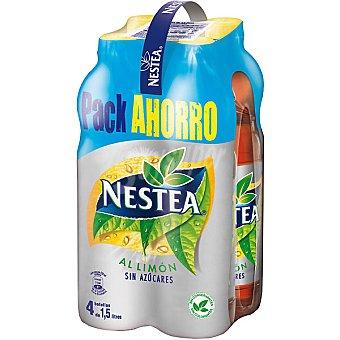 Nestea Refresco de té al limón sin azúcar light pack ahorro Pack 4 botella 1,5 l