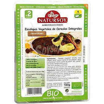 Natursoy Escalopas vegetales de cereales integrales champiñones Envase 180 g