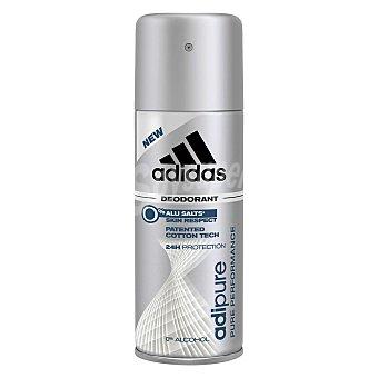 Adidas Desodorante en spray para hombre Adipure antitranspirante 200 ml 200 ml