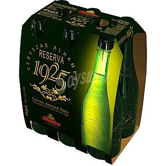 ALHAMBRA Reserva 1925 cerveza rubia con regalo de una jarra pack 6 botella 33 cl