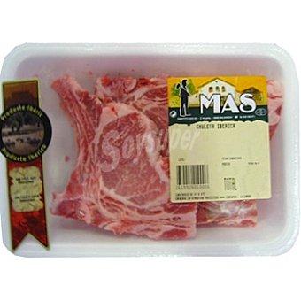 MAS Chuleta de lomo de cerdo ibérico peso aproximado bandeja 500