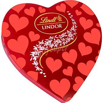 Lindt Bombones de chocolate con leche cremoso Corazón Lindor Lata 350 g