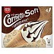 Soft helado cono de vainilla y chocolate caja 4 uds 324 gr Caja 4 uds 324 gr Cornetto Frigo