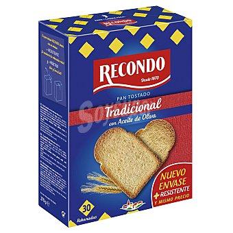 Recondo pan tostado tradicional paquete 270 grs Paquete 270 grs