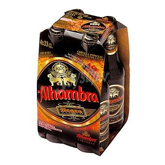 Alhambra cerveza negra nacional pack 4 botella 33 cl