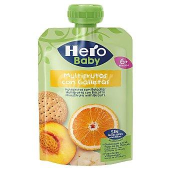 Hero Baby Bolsita de frutas (naranja, plátano y melocotón) con galleta, a partir de 6 meses 100 g