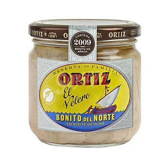 Ortiz Reserva de Familia bonito del norte en aceite de oliva Frasco 180 g neto escurrido