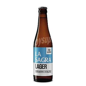 La Sagra Lager cerveza rubia artesana castellana Botella 33 cl