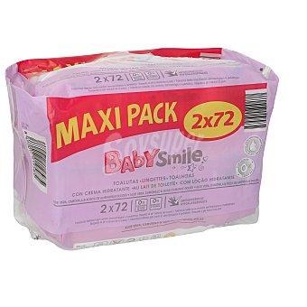 Baby Smile Toallitas bebé emulsión leche paquete 2 envase 72 ud Envase 72 ud
