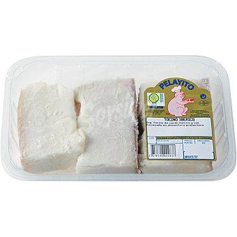 PELAYITO Tocino de cerdo ibérico salado Bandeja 400 g (aprox)