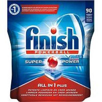 FINISH Todo en 1 Lavavajillas maquina Bolsa 90 dosis