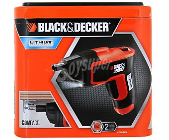 Black&Decker Atornillador sin Cable, 3,6V, Eje Descentrable 1 Unidad