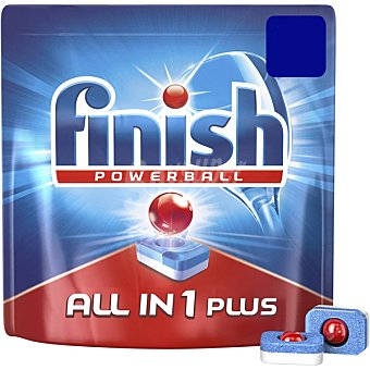 Finish Detergente lavavajillas Super Power todo en 1 bolsa 61 pastillas 1 bolsa 61 pastillas