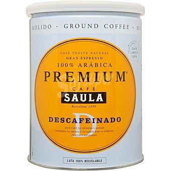 Saula Café descafeinado molido 100% arábica premium Lata 250 g