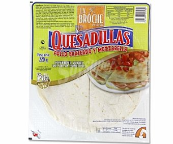 La Broche Quesadillas pollo y mozzarella con salsa 200 Gramos