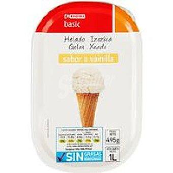 Eroski Basic Helado de vainilla Tarrina 1 litro