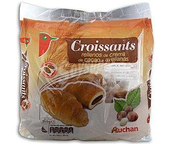Auchan Croissants rellenos de crema de cacao y avellanas 315 gramos