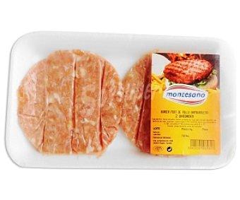 Montesano Burger Meat de Pollo (hamburguesa) 160 Gramos
