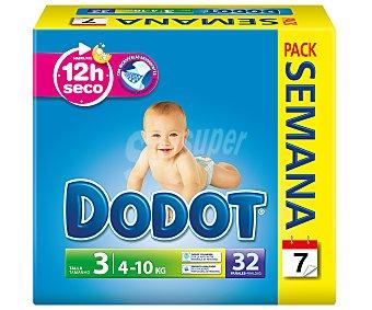 Dodot Pañales talla 3, para niños de 4 a 10 kilogramos 35 uds