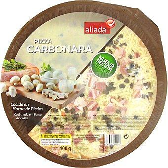 Aliada Pizza carbonara cocida en horno de piedra Envase 400 g