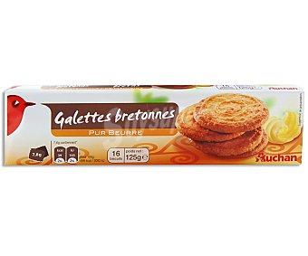 Auchan Galletas bretonnes de mantequilla 125 gramos