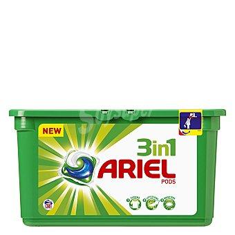 Ariel Detergente 3 en 1 en cápsulas 38 ud