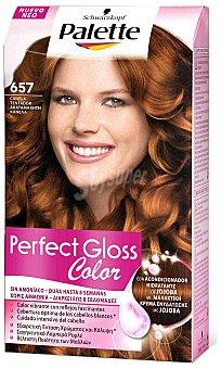 Palette Schwarzkopf Tinte Perfect Gloss Color nº 657 canela tentador con acondicionador de jojoba sin amoniaco Caja 1 unidad