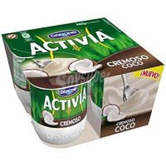 Danone Activia cremoso de coco Pack 4x125 g