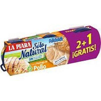 La Piara Sólo Natural Paté de pollo pack 2+1 unid