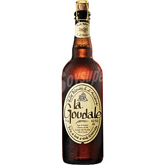 LA GOUDALE cerveza rubia francesa  botella 75 cl
