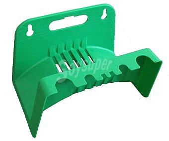 Iberlus Soporte de plástico para manguera, con dos puntos de sujección para la pared y medidas de 25 x 25 x 15 centímetros iberlus