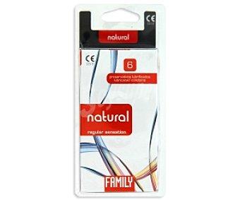 Family Preservativos con Latex y lubricados, 6 Unidades