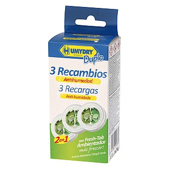 Humydry Antihumedad recambios aroma manzana verde 3 ud