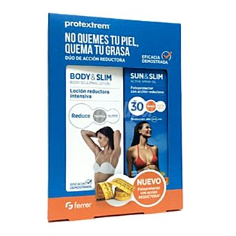 PROTEXTREM Pack fotoprotector sun&slim FP 30 200 ml. + loción reductora intensiva 150 ml. 1 ud