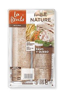 La Broche Rollito de pavo y queso Funroll nature 220 gramos