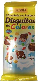 Hacendado Chocolate leche disquitos Tableta 150 g