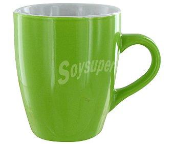 Gsmd Mug o taza alta con asa modelo Ikas, con capacidad de 350 mililitros y fabricada en porcelana de color verde 1 Unidad
